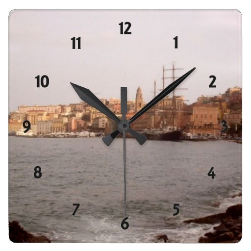 #ZAZZLE #Gaeta View Wall Clock by Elenaind