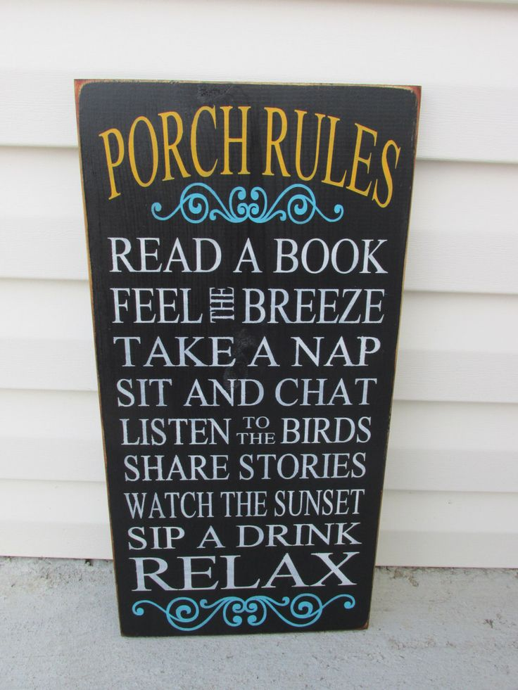 PORCH RULES SIGN, Fathers dayGuy Gift,Mothers Day Primitive Dad Gift Porch Patio Rules,Deck Rules,Outdoor Signs,Hand Painted,Unique Present by JCWShop on Etsy https://www.etsy.com/listing/177474107/porch-rules-sign-fathers-dayguy