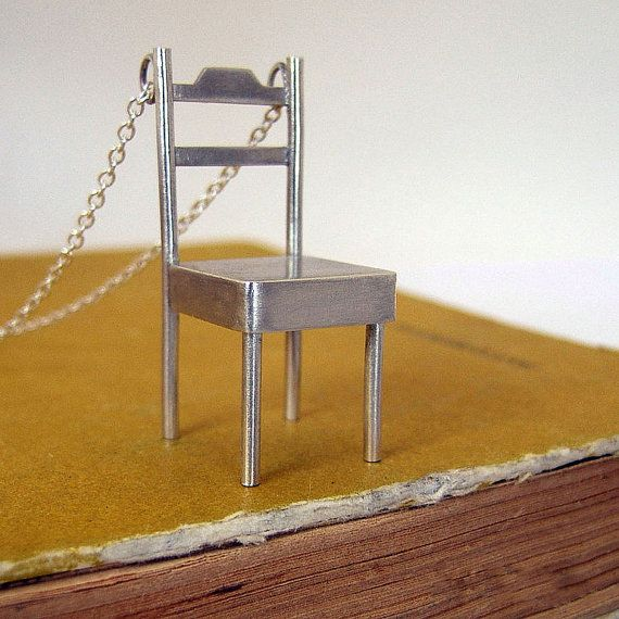 Sterling Silver Chair Pendant