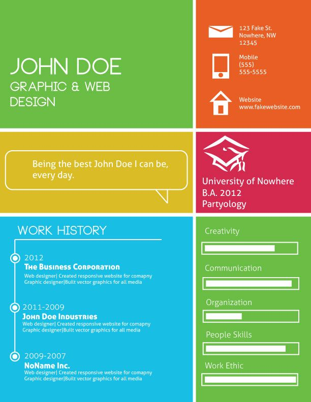 Best Cv Infographic Images On   Cv Ideas Resume