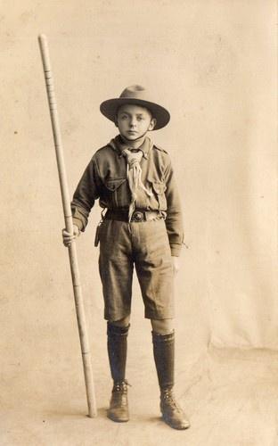 Vintage Postcard of Boy in Boy Scout Uniform | eBay