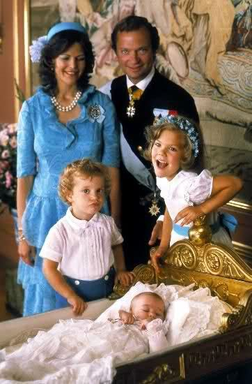 Ready for Royalty Photo Spotlight:Christenings-Princess Madeleine of Sweden with Queen Silvia, King Carl Gustaf, Prince Carl Phillip and Crown Princess Victoria