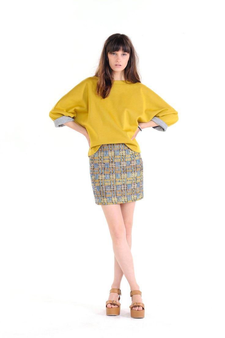 Veste RECOLETA, Couleur Super Lemon, Printemps/Eté 2015 <> RECOLETA Jacket, Super Lemon Color, Spring/Summer 2015.