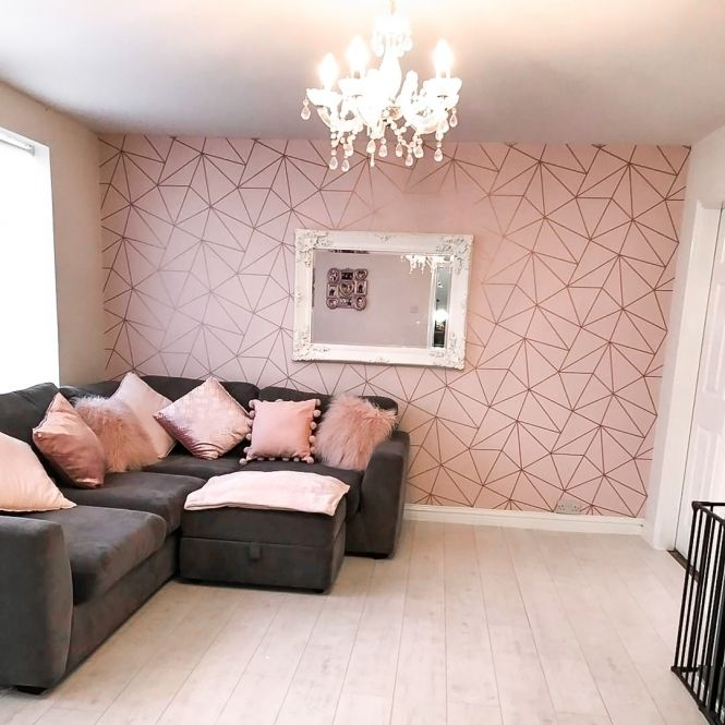 Pink And Gold Living Room Ideas: I Love Wallpaper Zara Shimmer Metallic Wallpaper Soft Pink