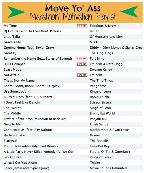 Jen's Best Life: Marathon Training Motivation Playlist