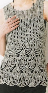 بلوزه كروشيه بالباترون - crochet beluse pattern ~ شغل ابره NEEDLE CRAFTS