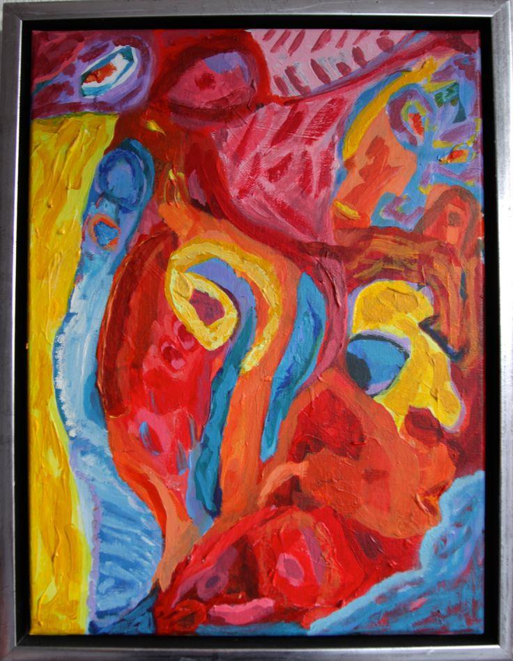 Mutazione, 40 x 30 cm, acrylic on canvas.