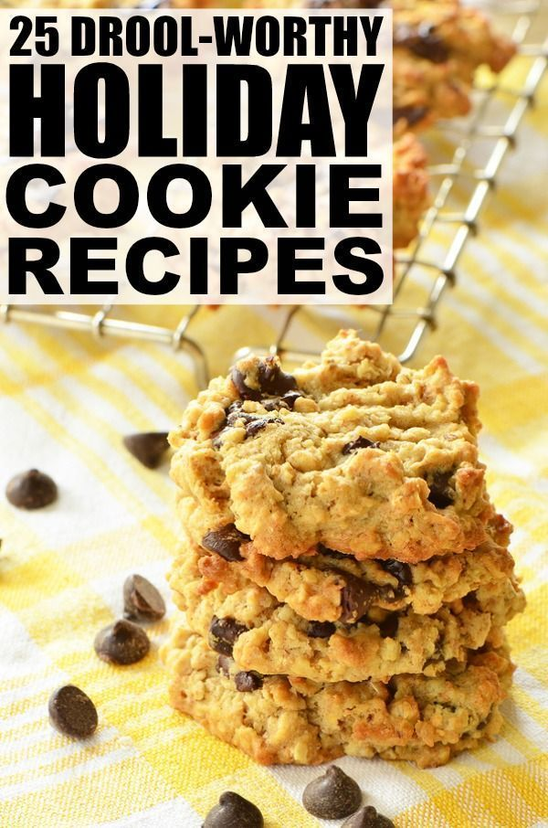 From s'mores stuffed and snickerdoodle cookies, to classic chocolate chip and peanut butter cookies, this collection of 25 drool-worthy holiday cookie recipes is perfect for cookie exchanges, bake sales, and everything in between!