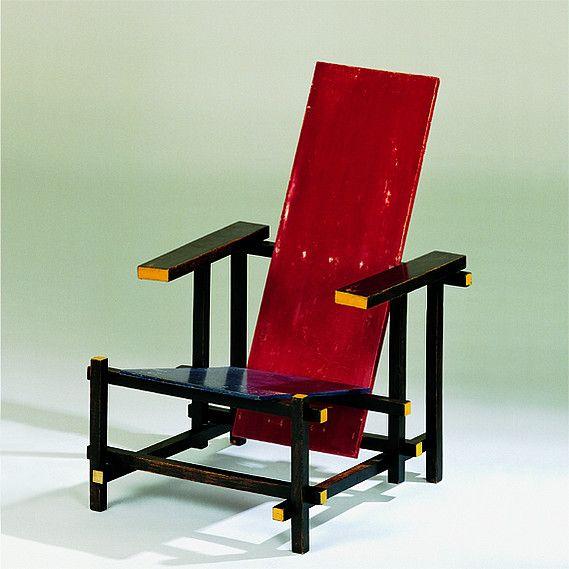 Gerrit Rietveld Rot Blauer Stuhl
