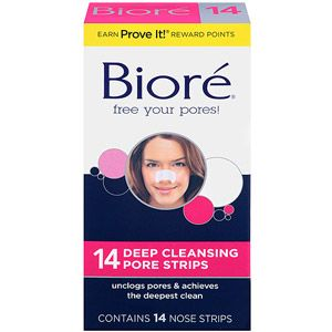 Best stuff ever <3 Biore Pore Strips Deep Cleansing 14 Ct