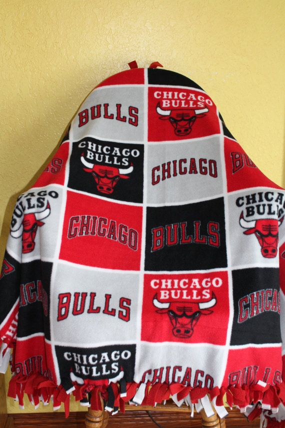 Chicago Bulls Fleece Blanket / Throw/ Lap Quilt / by GrannyRRRR, $29.95