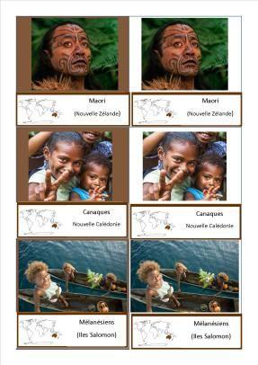 cartes nomenclature habitants océanie