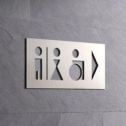 Cartelli segnaletici per ambienti-Hinweisschild WC-PHOS Design