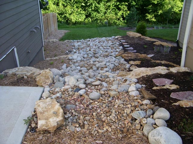 Landscape Drainage Solutions  ALLN1 Landscape  Kansas City and Lawrence Landscaping