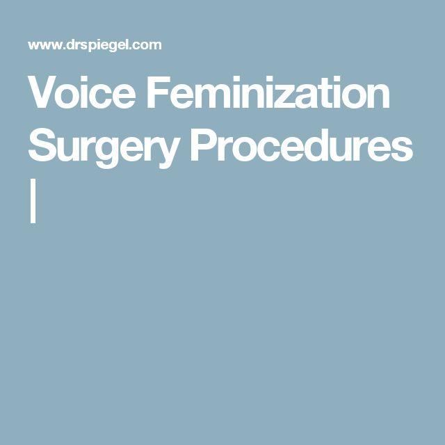 Voice Feminization Surgery Procedures |