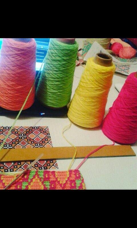 Tejido wayuu-hilo crochet-