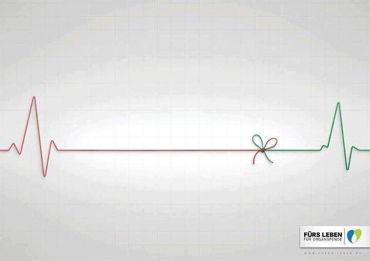 Anúncio para incentivar a doação de órgãos.