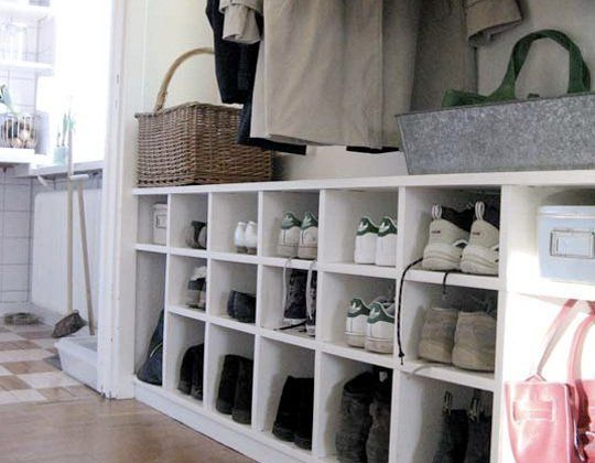 3. Cubby Shoe Organizer, $37 Try this 12 Pair Shoe Organizer from the Container Store. Combine two or three in a row for additional storage. #shoestorage #S4S