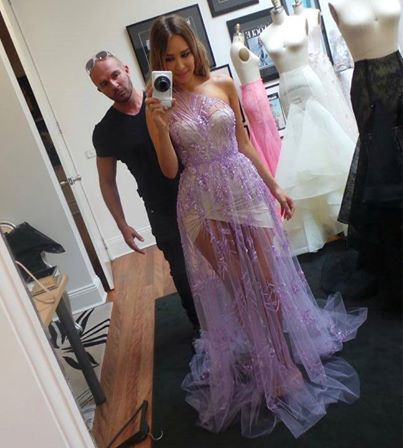 BEHIND THE SCENES FITTING WITH SYDNEY FASHION BLOGGER WEARING CUSTOM MADE ALEX PERRY LILAC GOWN