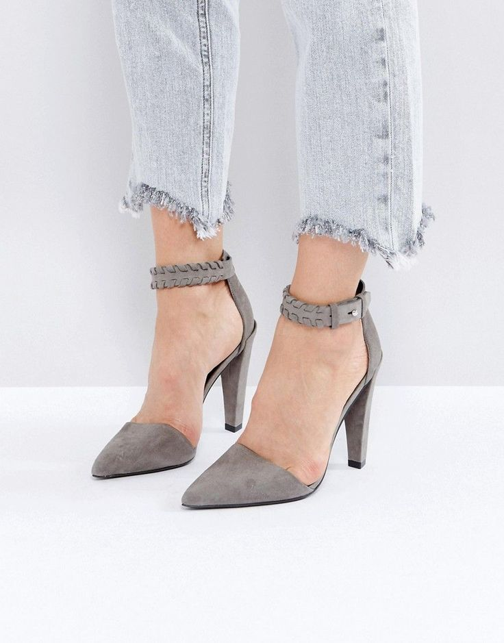 ALLSAINTS HEELED PUMP - GRAY. #allsaints #shoes #