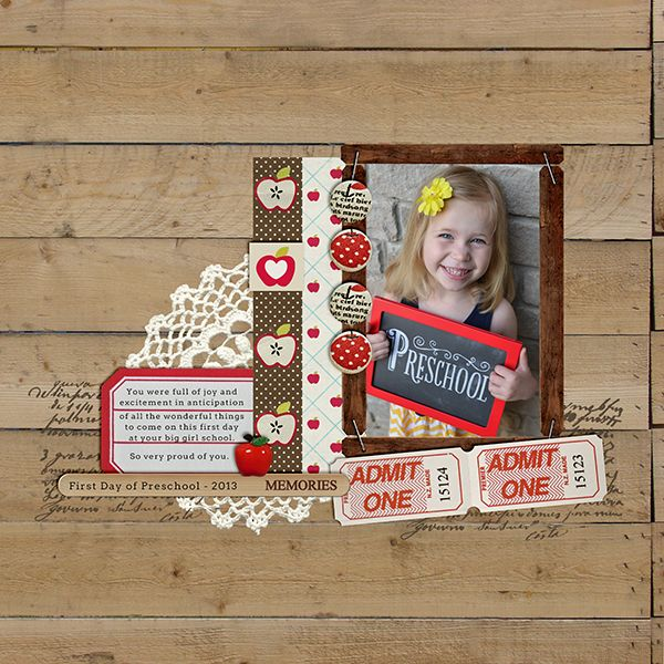 #papercraft #Scrapbook #layout   Digital Scrapbook Layout by TeresaVictor featuring Apple Orchard by Sahlin Studio