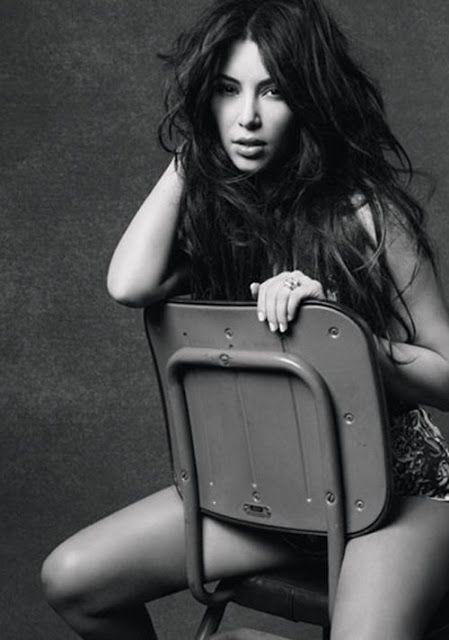 Kim Kardashian's Marie Claire December 2011.