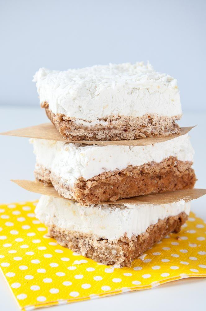 Lemon Coconut Cream Bars Recipe with a raw vegan option | VeganFamilyRecipes.com | #gluten free #dessert #clean eating #paleo #summer