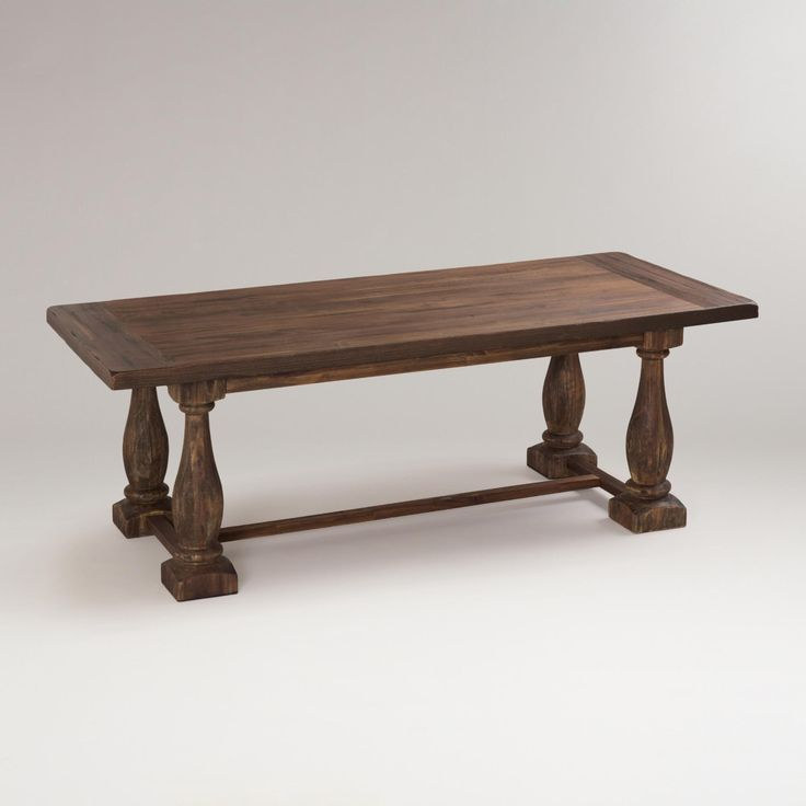 Cost Plus World Market Fall 2016 Collection: Rustic Java Greyson Fixed Dining Table