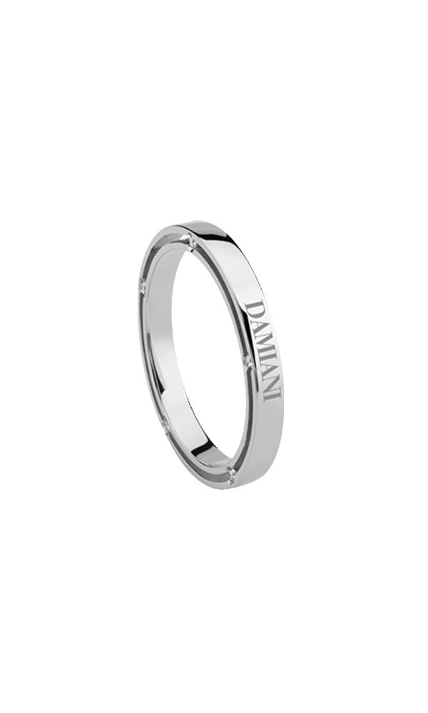 D.Side white gold and diamonds wedding band