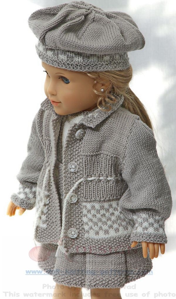 american-girl-knitting-patterns - The dolls bright,  light clothes for  the bright season