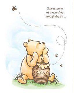 "Disney Winnie the Pooh Sweet Scents of Honey Canvas Print 11"" x 14"""