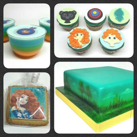 Combo Valiente/Brave • Cake Ambientación ~ Galletas ~ Gellyshot • Cupcakes Relieve #PrityCakes #cakes #galletas #cupcakes #gellyshot #brave #valiente