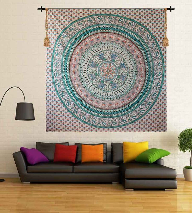 Hippie mandala beach tapestry. Perfect for topping a bed, couch, wall or your favorite chair.This Wall Tapestry can also be used as a: - Tapestry or a Wall Hanging, Bedspread, Bed Cover, Table Cloth, Curtain, Dorm Decor, Picnic Sheet Add an ethnic feel to your room with this cotton handmade wall hanging.