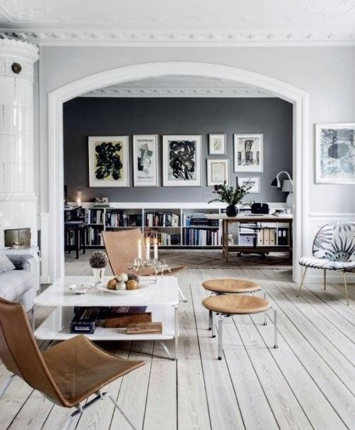 In a suburb of Copenhagen, interior stylist Cille Grut used shades of gray and a pair of PK22 chairs to modernize her family's 1875 cottage.