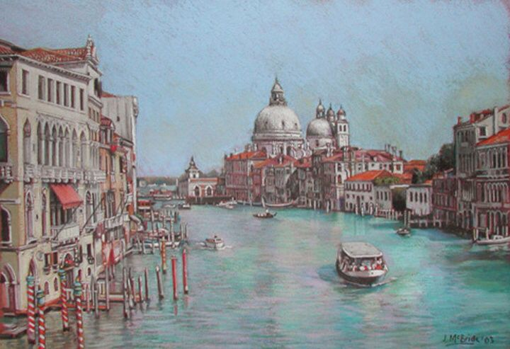 Venice Grand Canal - pastels