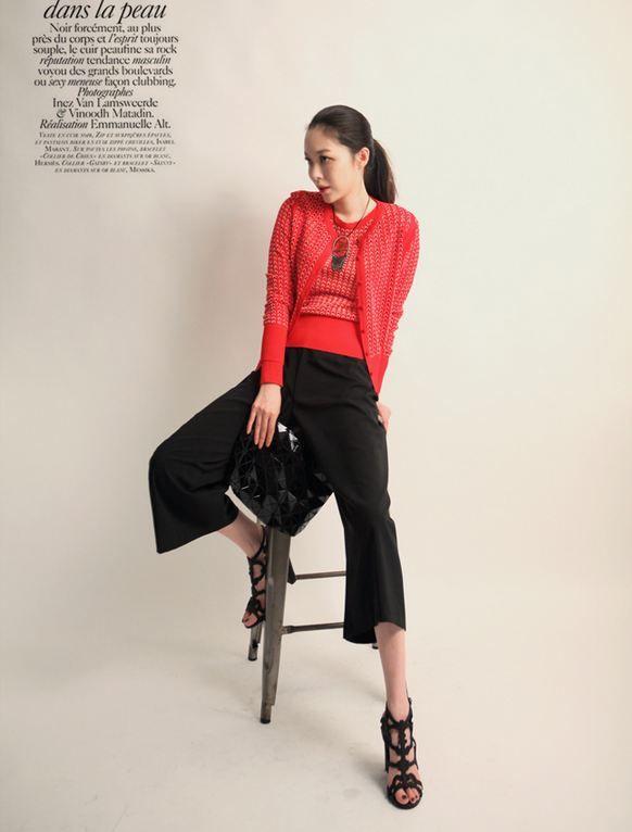 Korea feminine clothing Store [SOIR] Vanessa Cardigan  / Size : Free/ Price : 64.24USD #korea #fashion #style #fashionshop #soir #feminine #special #lovely #luxury #cardigan #red #gray #black