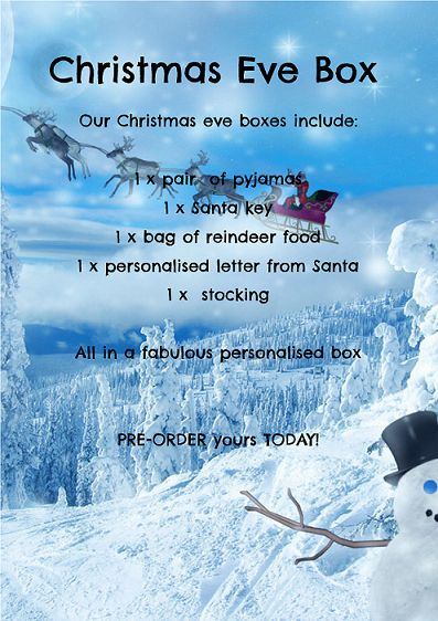 Christmas eve boxes full of goodies your children will love! www.facebook.com/Bignsmall13