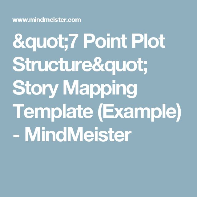 """""""7 Point Plot Structure"""" Story Mapping Template (Example) - MindMeister"""