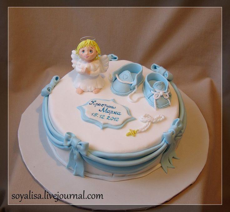 торт на крестины с ангелом - Поиск в Google
