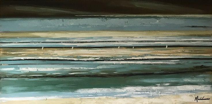 Oljemålning | MistyDays | 140x65cm via Oljemålningar