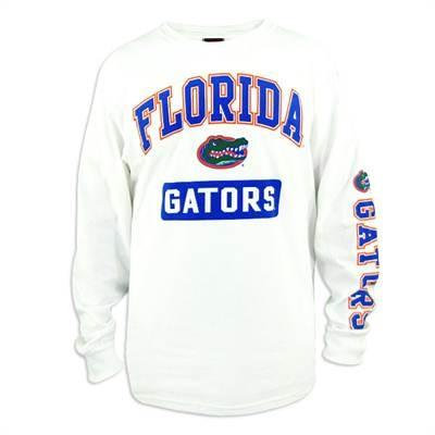 Florida Gators Men's Printed White Long Sleeve