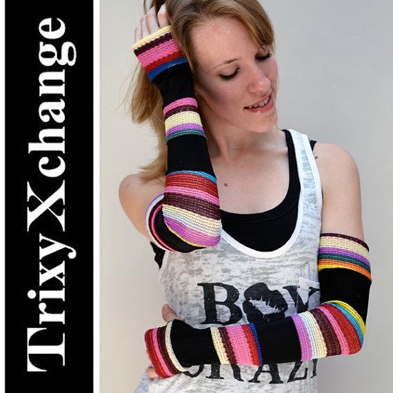 TRIXY XCHANGE  Gay Pride Clothing Rainbow Gloves by TrixyXchange, $32.00