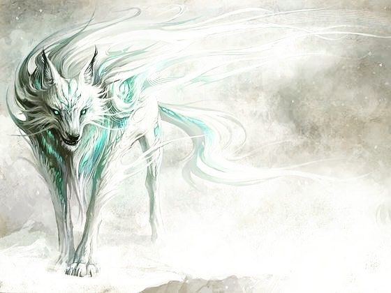 Raijū a legendary creature from Japanese mythology. Its body is composed of lightning and may be in the shape of a cat, fox, weasel, or wolf.