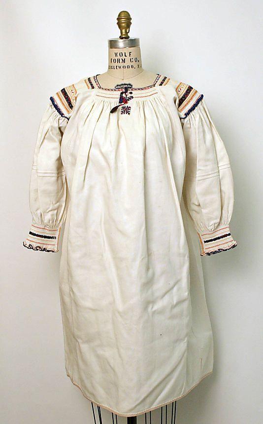 Dress Date: 1900–1981 Culture: Romanian Medium: cotton
