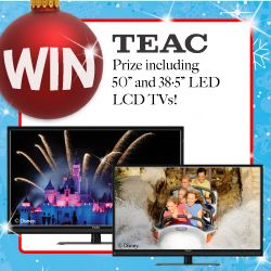 WIN a TV for you and one for the kids with this fabulous TEAC Prize!Click on the picture above to access the entry form!SHARE the news with all your friends and don't forget you still have time to enter our WIN a Trip to Disneyland Competition!