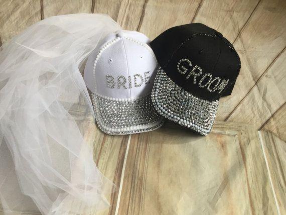 2pcs Bride Groom Hat Cap Wedding Couple Hats for Photo Prop//Wedding Gifts