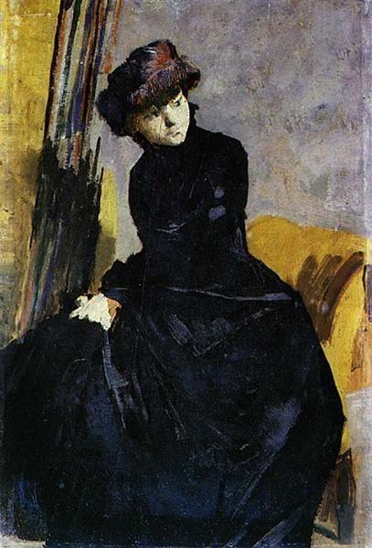 Senhora vestida de negro, 1882 - Henrique Pousao