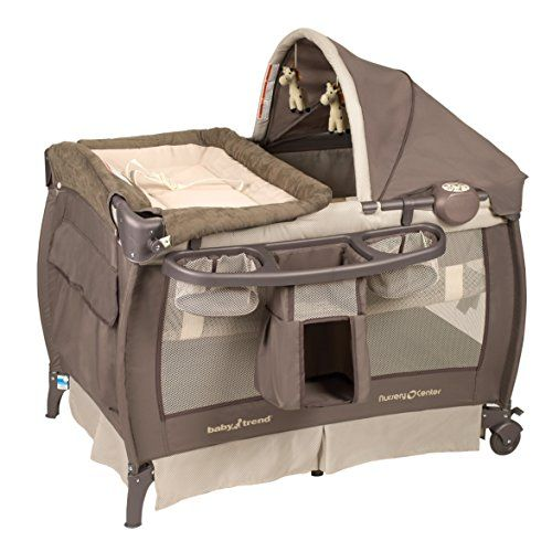 The Baby Trend Nursery Center Play yard offers a safe place for your baby to play or to sleep. With music for stimulation and gentle vibration for ...