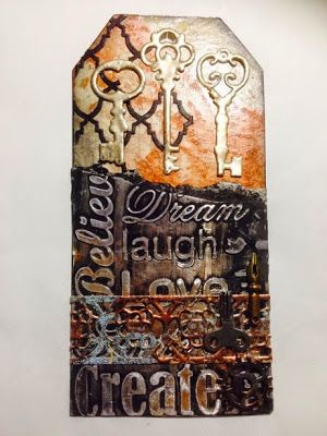 Couture Creations: Metallic Tag by Tina Connolly | #couturecreationsaus #decorativedies #embossingfolders #tags #metallic