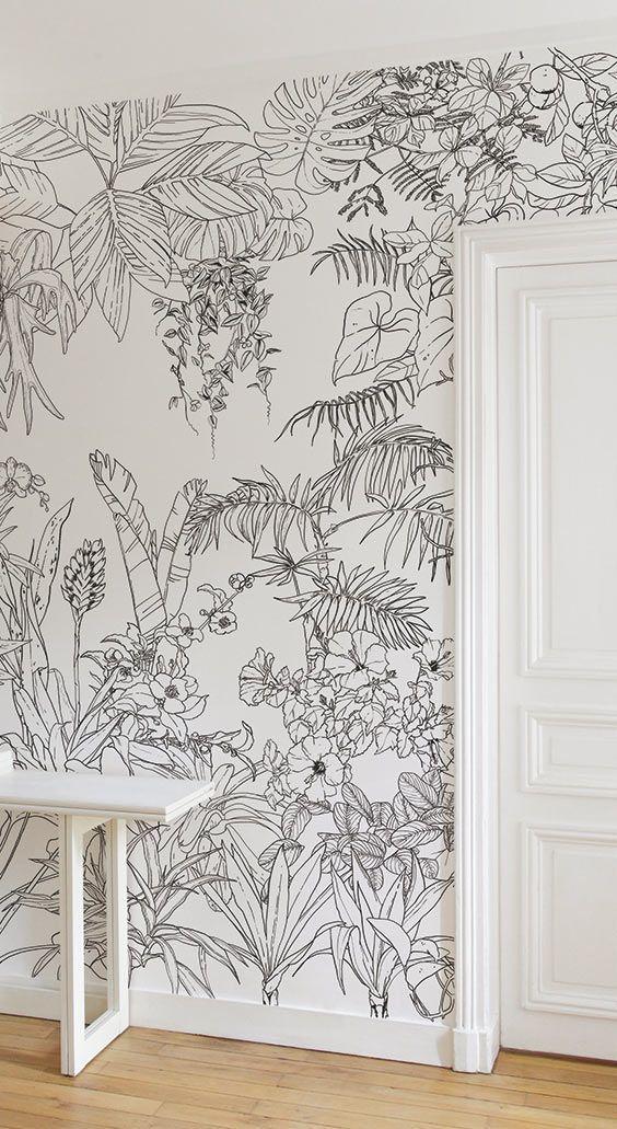 Das Duo von Caddous & Alvarez Künstlern kreierte diese Tapete Dschungel …